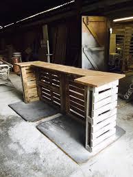 Pallet Furniture Outdoor Bar Shabby Chic Palette Bar Par Woodlandinteriors Sur Etsy Palette
