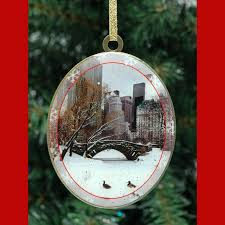 winter in central park new york u2013 christmas ornaments gift set