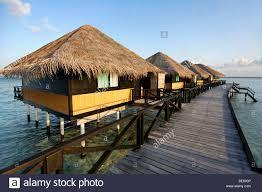 water bungalows jetty vadoo island south male atoll maldives