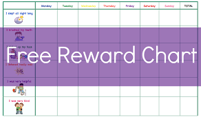 10 best images of home reward chart free reward chart template