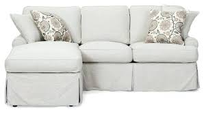 slip covered sofa furniture slipcover sofa with chaise modest on furniture intended