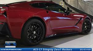 corvette zero 1 c7 corvette stingray zero1 side skirts rockers by acs rpidesigns com