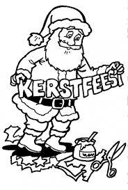 santa claus preparing christmas coloring pages christmas