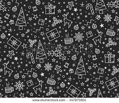 Design Patterns For Cards Seamless Pattern Christmas On White Background Stock Vector