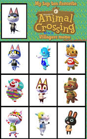Animal Crossing Memes - top 10 favorite male animal crossing villagers by wandersong on