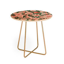 Orange Side Table At Sarilmak Green Orange Products Deny Designs