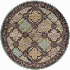 Brown Round Rugs by Tayse Rugs Capri Brown 5 Ft 3 In Transitional Round Area Rug