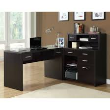 Black Glass L Shaped Desk by L Shaped Office Desk Home Painting Ideas