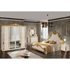 ensemble chambre à coucher nadir laque beige dore ensemble chambre a coucher achat vente
