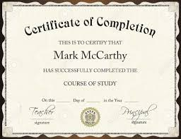 certificate of completion template free download it resume cover