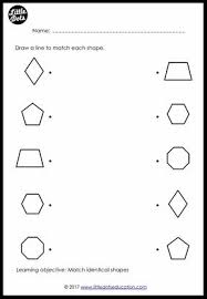 preschool shapes matching worksheets and activities little dots