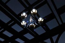 repurposed solar light chandelier jonesing2create