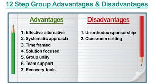 pros and cons of 12 step groups