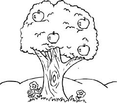 Coloriage Pommier dessin à imprimer sur COLORIAGES info
