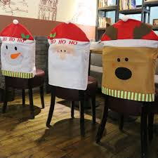 snowman chair covers aliexpress buy 4 pcs lot chair covers santa snowman