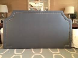 Upholstered Nailhead Headboard by King Curved Corner Upholstered Headboard By Threestrandsdesigns