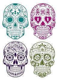 collection of 25 sugar skull dia de los muertos designs