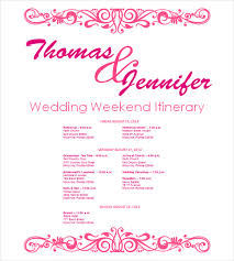 wedding itinerary template for guests wedding timeline for guests template free