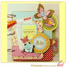 scrapbook album kits paisleys polka dots may 2011 scrapbook layout mini album kit