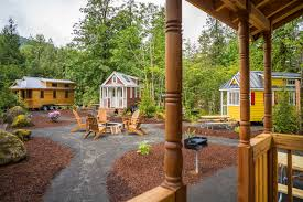Tiny House Deck by Tiny House Villages What The Mt Hood Village In Portland And