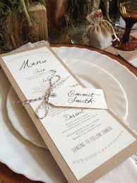 wedding invitations edmonton this rustic menu and place card designed by