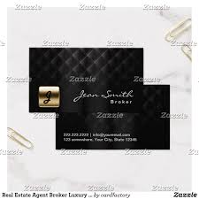 real estate agent broker luxury black gold business card
