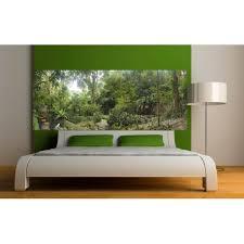 chambre foret stickers tête de lit déco chambre forêt stickers muraux deco