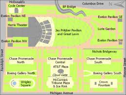 grant park chicago map millennium park