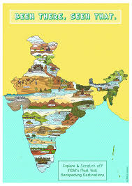 Scratch Off Map Buy India Backpacker Scratch Map A3 Size Online At Low Prices In