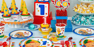 the party supplies caillou 1st birthday supplies the birthday depot