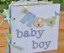 baby boy photo album this is a handmade srapbook mini album designed for scrapbooking