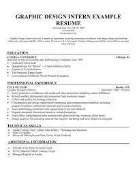 Sample Resume For Graphic Artist Graphic Design Intern Salary Graphic Design Intern Resume Sample