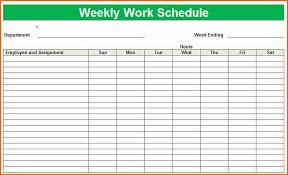 Excel Weekly Schedule Template Weekly Work Schedule Template Peerpexwork Schedule Define
