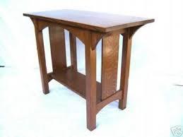 quartersawn oak arts u0026 crafts sofa table mission style woodruff
