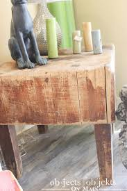 antique butcher block objects on main