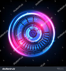 Futuristic Style Abstract Technology Background Futuristic Style Vector Stock