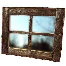 amazon com rustic window pane mirror home u0026 kitchen