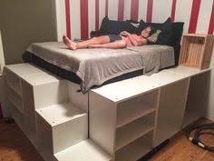 ikea bed hack 15 beds made much cooler with ikea hacks ikea kitchen cabinets