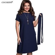 cocoepps elegant casual women blue dresses big sizes new 2017 plus
