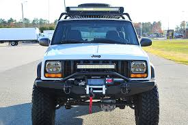 Led Lights For Jeeps 50 Inch U0026 23 Inch Led Light Bar On The Jeep Xj