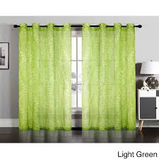Grommet Window Curtains Hlc Me Orange Sheer Panel Window Treatment Curtains