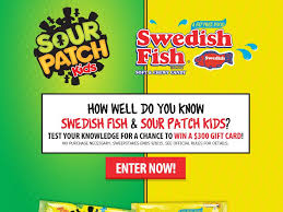 gift cards for kids fish sour patch kids sweepstakes