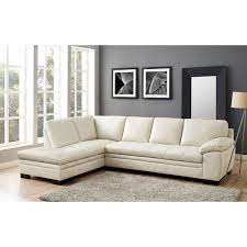 Top Grain Leather Sectional Sofas Hydeline By Amax Bradford Top Grain Leather Sectional Sofa With