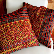 handmade vintage hmong pillow cases modern day hippie