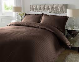 Brown Duvet Cover King Hotel Quality Luxury Satin Stripe Duvet Cover Single Double King