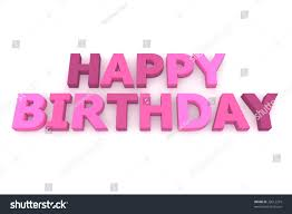 word happy birthday different shades pink stock illustration