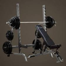 Olympic Bench Press Dimensions Bodysolid Bench Rack Combo