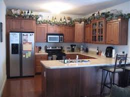 kitchen countertop decor ideas greenery above kitchen cabinets room design ideas