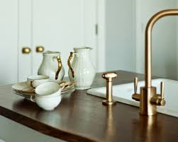 kitchen faucets brass brass kitchen faucet home design styles