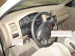 mazda protege questions how do you operate the cruise control